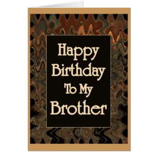 Cartão Feliz aniversario a meu irmão