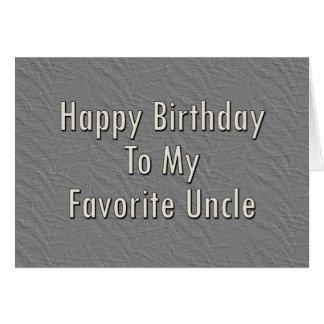 Cartão Feliz aniversario a meu tio favorito