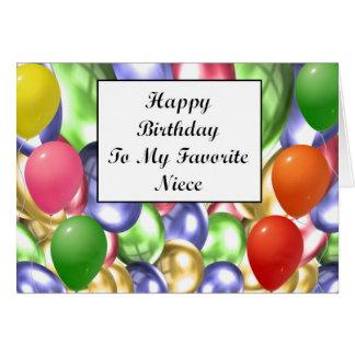 Cartão Feliz aniversario a minha sobrinha favorita