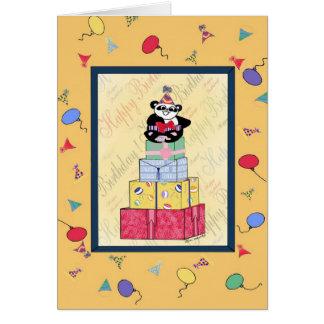 Cartão Feliz aniversario a um indivíduo dotado