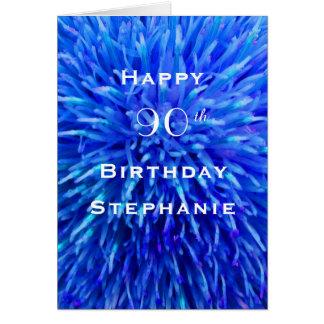 Cartão Feliz aniversario, abstrato personalizado, multi