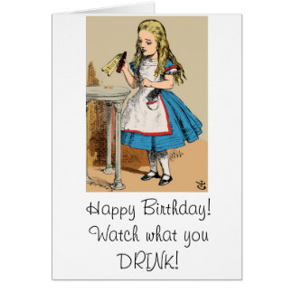 Cartão Feliz aniversario Alice no país das maravilhas