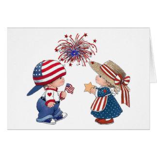 Cartão Feliz aniversario América do vintage