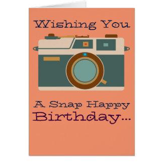 Cartão Feliz aniversario ao amante da fotografia do