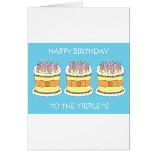 Cartão Feliz aniversario às objectivas triplas