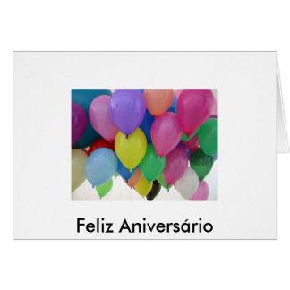 Cartão - Feliz Aniversário - Balão