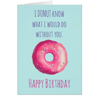 Cartão Feliz aniversario bonito engraçado da chalaça da