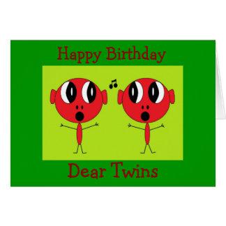 Cartão , Feliz aniversario, caro Gêmeo