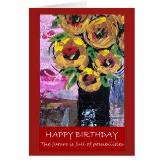 Cartão Feliz aniversario - cheio futuro das
