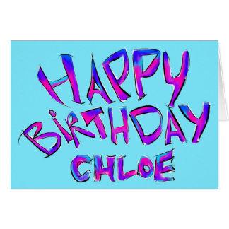 Cartão Feliz aniversario - Chloe