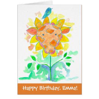 Cartão Feliz aniversario conhecido feito sob encomenda do
