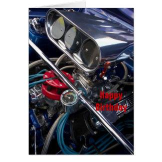 Cartão Feliz aniversario Crd do motor