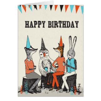 Cartão Feliz aniversario - cumprimentos bonitos dos