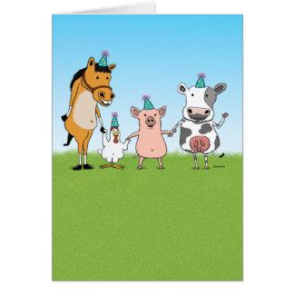 Cartão Feliz aniversario da equipe de fazenda