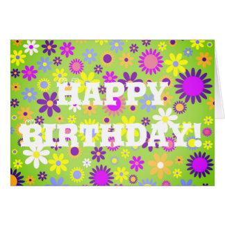 Cartão Feliz aniversario da flor gráfica!