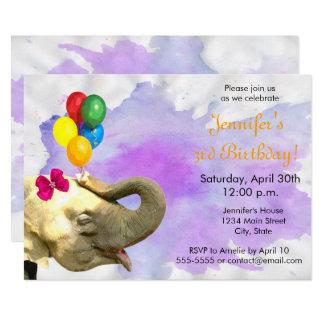 Cartão Feliz aniversario da menina neutra animal da selva