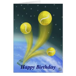 Cartão Feliz aniversario da vitória do tênis