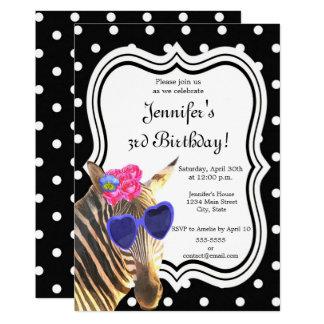 Cartão Feliz aniversario das bolinhas pretas animais da
