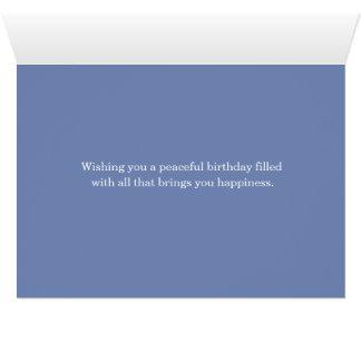 Cartão Feliz aniversario das montanhas da terra de