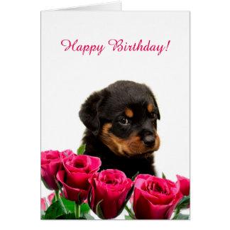 Cartão Feliz aniversario das rosas vermelhas bonitos do