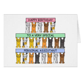 Cartão Feliz aniversario de assistente pessoal