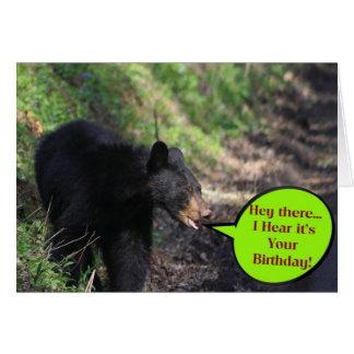 Cartão Feliz aniversario de Beary
