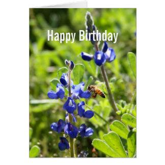 Cartão Feliz aniversario de Bluebonnet de Texas