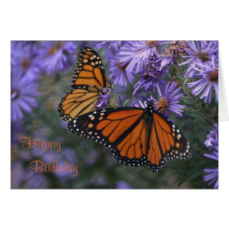 Cartão Feliz aniversario de borboleta de monarca