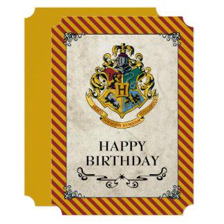 Cartão Feliz aniversario de Harry Potter | Hogwarts