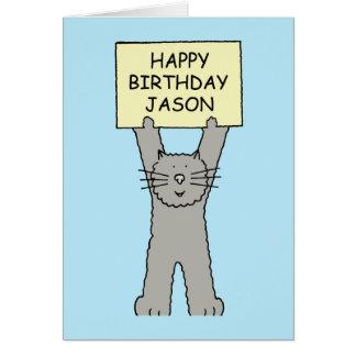 Cartão Feliz aniversario de Jason