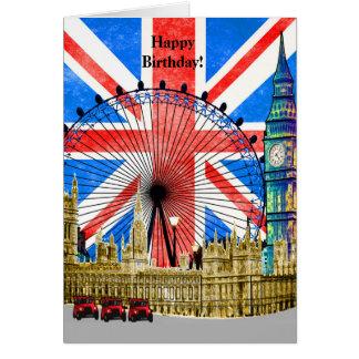 Cartão Feliz aniversario de Londres Inglaterra