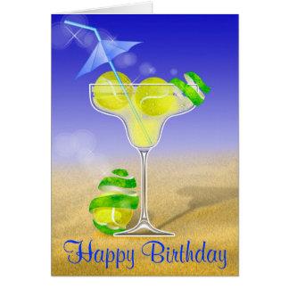 Cartão Feliz aniversario de Margarita do tênis