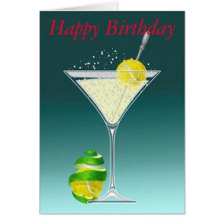 Cartão Feliz aniversario de Martini do tênis