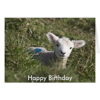 Cartão Feliz aniversario de mim à ovelha
