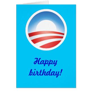 Cartão Feliz aniversario de Obama!