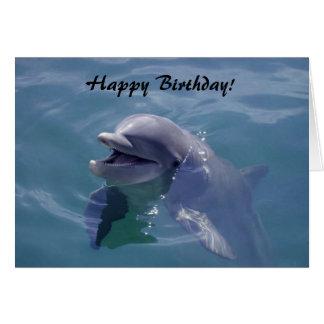 Cartão Feliz aniversario de sorriso do golfinho!