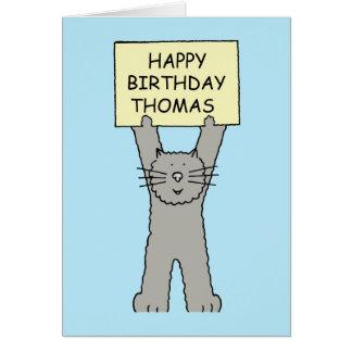 Cartão Feliz aniversario de Thomas