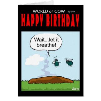 Cartão Feliz aniversario - deixe-o respirar!
