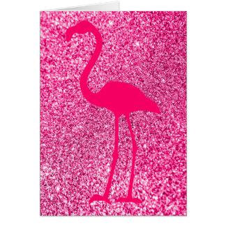 Cartão Feliz aniversario do brilho cor-de-rosa do