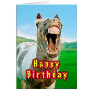 Cartão Feliz aniversario do cavalo feliz