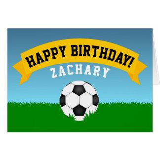 Cartão Feliz aniversario do futebol