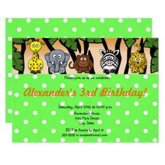 Cartão Feliz aniversario do género neutro animal do