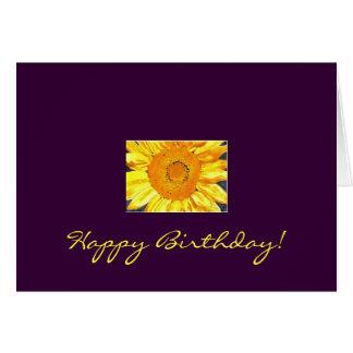 Cartão Feliz aniversario do girassol!