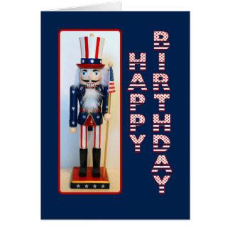 Cartão Feliz aniversario do Nutcracker do tio Sam
