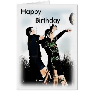 Cartão Feliz aniversario do rugby
