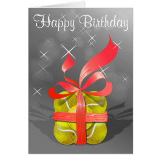 Cartão Feliz aniversario do tênis