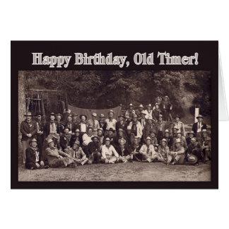 Cartão Feliz aniversario do vaqueiro do vintage