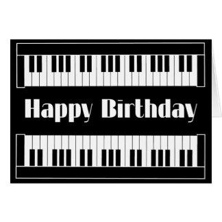 Cartão Feliz aniversario dos teclados