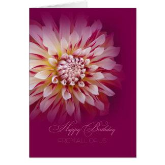 Cartão Feliz aniversario dtodos nós cartão/dália