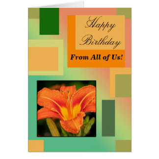 Cartão Feliz aniversario dtodos nós, Pastels